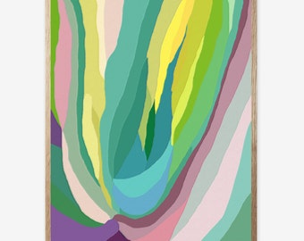 Abstract plant, Abstract Print, Plant print, Digital Print, Kids room, Nursery print, Modern Art, Minimalist, Printable art, Art Work 16x20