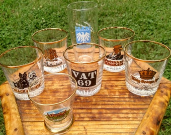 Assorted Vintage Shot Glasses