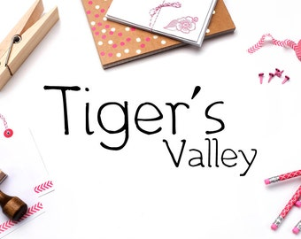 Tiger's Valley Handwritten Calligraphy Font Download Modern Digital Typeface