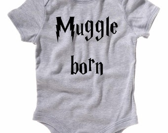 Muggle Born Baby One Piece Harry Potter Inspired Infant Clothing