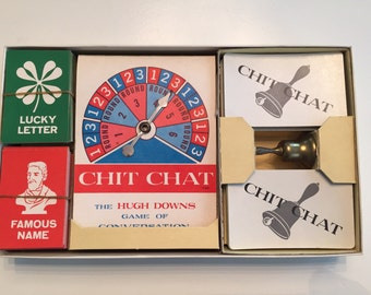 1963 Hugh Downs Chit Chat Vintage Complete Game by Milton Bradley. #4315