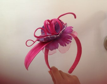 Fascinator/Headband pink and lilac