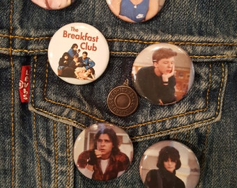Breakfast Club, Pins, Buttons,Magnets, 80's, 1.25inch, high quality