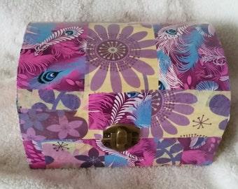 Purple Flowers Treasure Chest