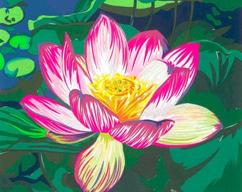 Waterlily limited edition signed giclee fine art print