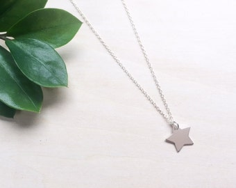 Star Necklace / Sterling Silver Star Necklace / Dainty Star Necklace / Layering Necklace