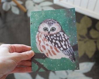 Magical Owl Blank Greeting Card B-003