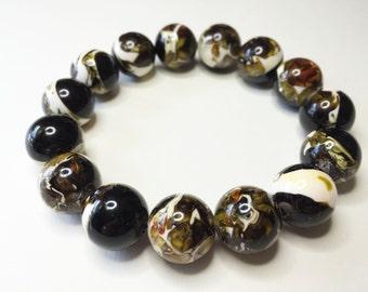 CHOCOLATE SWIRL ACRYLIC Beads