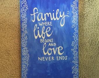 wedding gift canvas
