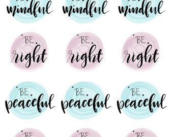 Hand lettered stickers - BE Collection - BE1607