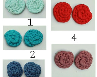 Accessories for shoes braided fabric with clip mechanism