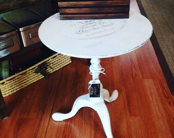 White French Country Side Table