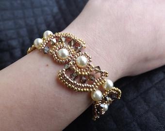 Swarovski bicones Beads Bracelet
