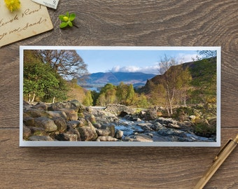 Ashness Bridge - Single Blank Card / Birthday / Thank You / Notelet