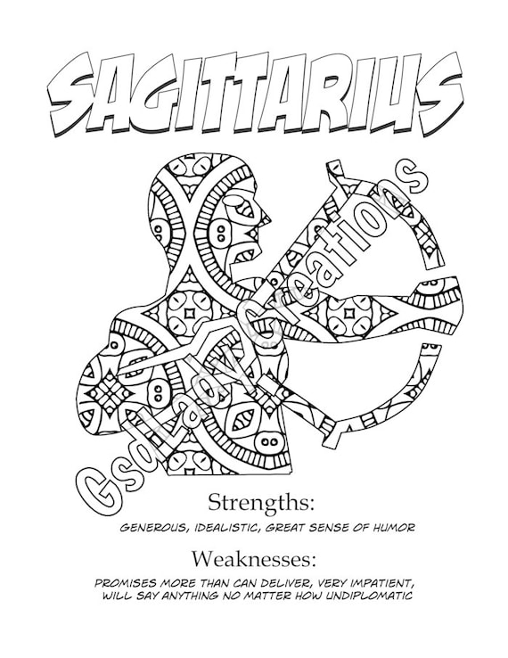sagittarius coloring pages - photo #41