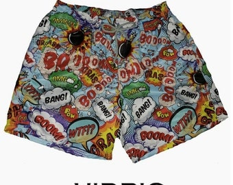 VIDRIC Mens Boom Swim Trunks