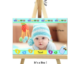 18cm x 12cm Personalized Canvas with Easel - Special Occasions