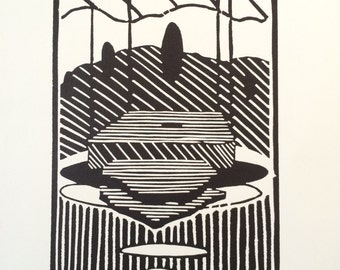 Throne 2014 1/12 Original Linocut Print. 1 of 12
