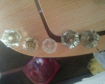 Antique glass knobs