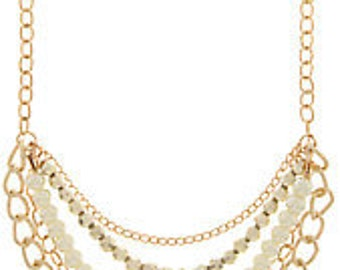 Pearlfect Metal-Bead And Chain Layered Necklace