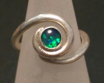 Opal Ring - Triplet Opal in Swirl