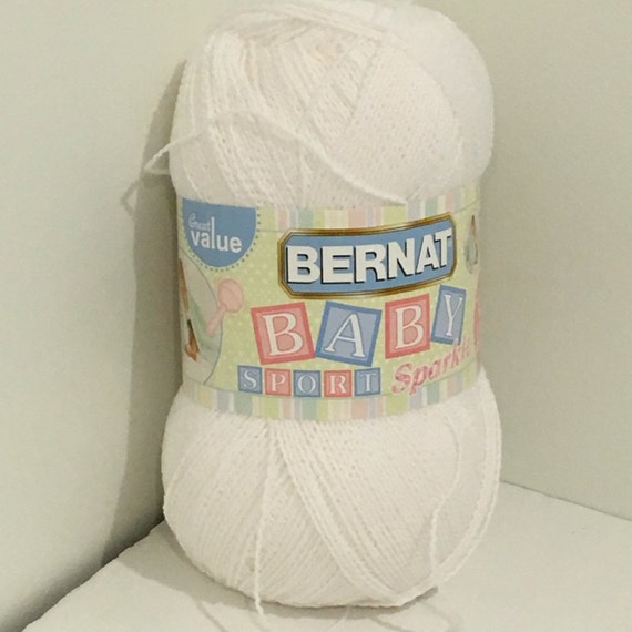 Knitting Essentials White Sparkle Wool : Bernat baby sport big ball yarn white sparkle oz g