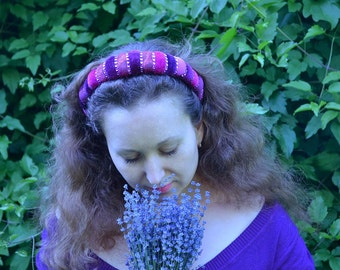 "Tiara, hair accessory, headband ""Lavander"""