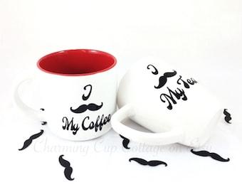 Funny Coffee Mugs/Funny Mug/Mustache Mugs/Funny Tea Mugs/Coffee Lovers/Tea Lovers/Tea Mugs/Coffee Cups/Tea Cups/Cute Mug/Cute Coffee Mugs