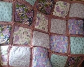 vintage patchwork blanket