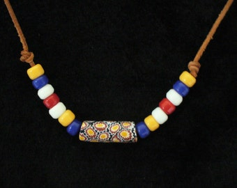 TRADE BEAD necklace, one of a kind!