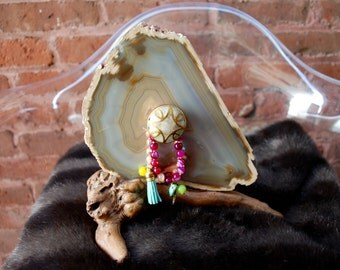 Agate stone decor/jewelry holder gorgeous quality