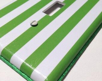 Green Stripe Light Switch / Wallplate Cover