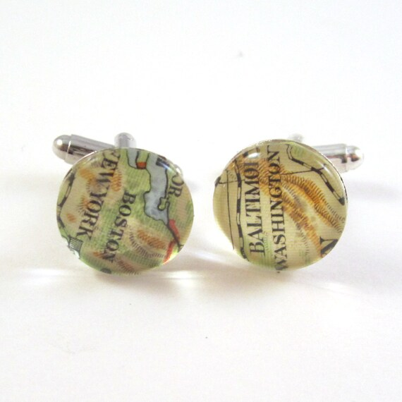 Map cufflinks - North America