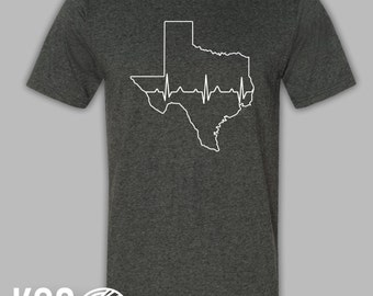 Texas Nurse Doctor Heartbeat Shirt