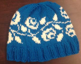 Rose Knit Hat