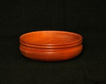 Solid Mahogany Wood Bowl
