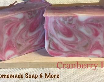 Cranberry fig homemade bar soap