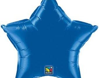 """Dark Blue Balloon- 20"""" Star Balloon"""