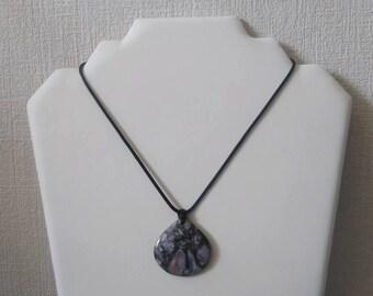 Purple gem stone Necklace (sediment jasper chalcopyrite)
