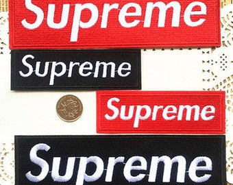 Large Embroidered Suprem e Wording Patches Iron /Sew On Patches Appliques  Patches Cute Patches Elegant Patches High Quality Patches