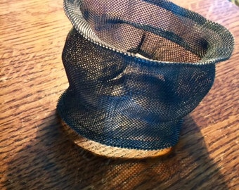 wonderful edgy vintage freeform mesh cuff bracelet