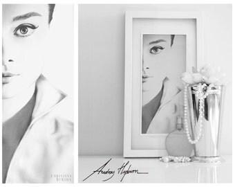 Audrey Hepburn Canvas - Hand Drawn Pencil Sketch - Fashion Illustration Fine or Wall Art