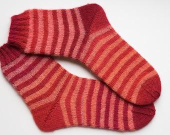 Hand Knitted Wool Socks EUR 34/35, UK 2/2.5
