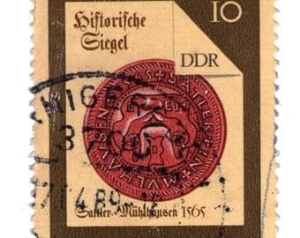 vintage postage stamp 10 ddr