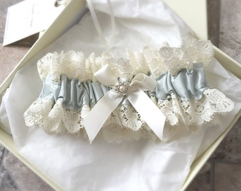 Selène Powder Blue Silk Wedding Garter