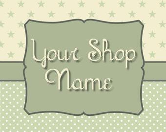 Banner Design, Etsy Shop Banner, Graphic Design, Cover Photo, Banner Set, Premade Banner, Custom Banner, Star Banner Set,