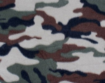 Army Camouflage Design Fleece Fabric by the yard