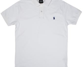 Men's Organic Cotton White Polo Shirt