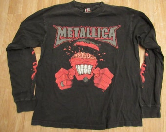 Metallica long sleeve brain exploding shirt 90's