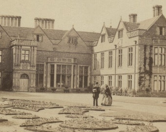 Charlecote House Charlecote Park c1870  CDV Wellesbourne Warwickshire Francis Bedford